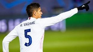 Raphaël Varane (28) en un partido del Real Madrid.