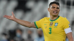 Thiago Silva (36) en la final de la Copa América 2021.