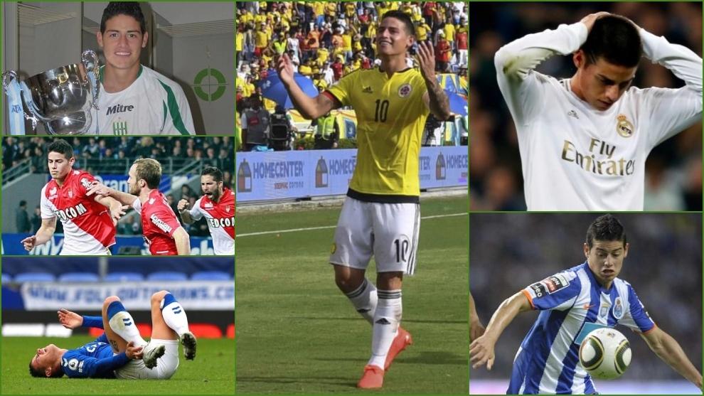 James Rodríguez en Colombia, Banfield, Real Madrid, Mónaco, Everton...
