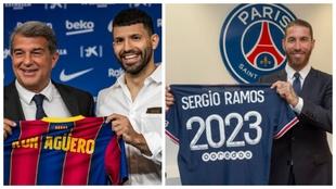 Sergio Agüero (33) y Sergio Ramos (35).