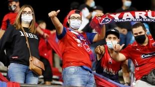Aficionados del DIM en el Atanasio Girardot.