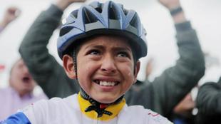 Julián Esteban Gómez, ciclista en formación.