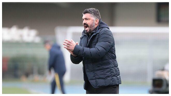 Gattuso, durante un partido con el Nápoles