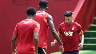 Falcao García, en el entrenamiento del Galatasaray
