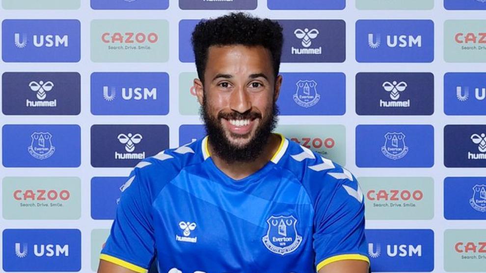 Andros Townsend, en su presentación con el Everton.