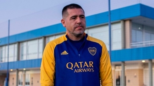 Juan Román Riquelme en las instalaciones de Boca Juniors.