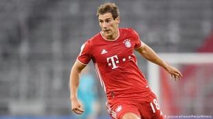 Leon Goretzka (26) en un partido con el Bayern Munich.