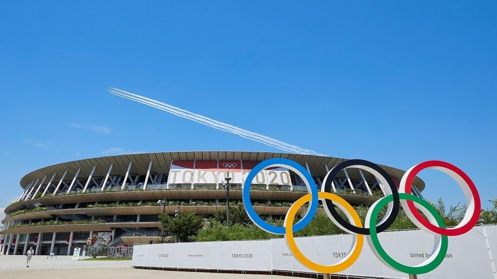 Vista del Estadio Olímpico de Tokio.