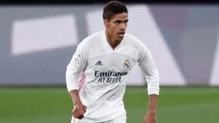 Raphaël Varane (28) en un partido con el Real Madrid.