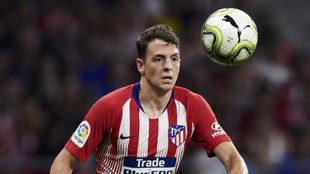 Arias, durante un partido con el Atlético