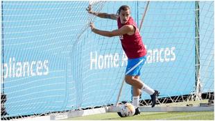 Antoine Griezmann, durante un entrenamiento.