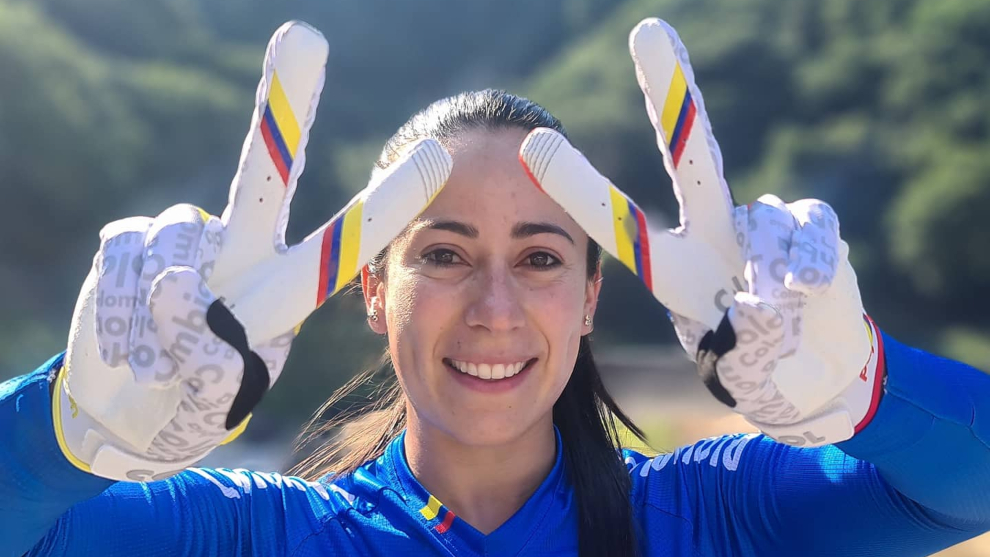 Mariana Pajón, en los Juegos Olímpicos.