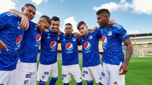 Así luce el Millonarios de Gamero con la nueva camiseta.