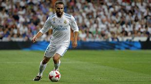 Carvajal, durante un partido con el Real Madrid