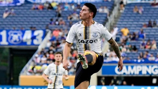 James Rodríguez, jugando la Florida Cup.