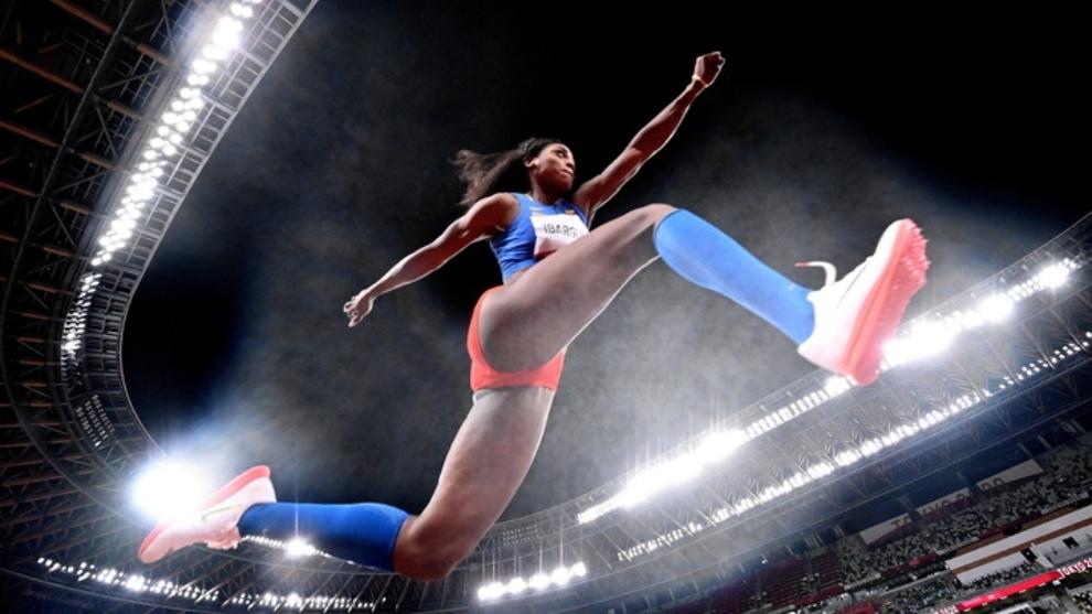 Caterine Ibarguen, clasificada a la final del salto triple.