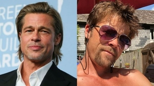 Doble de Brad Pitt y Brad Pitt.