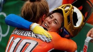 Mariana Pajón consigue la medalla de plata en Tokyo 2020.