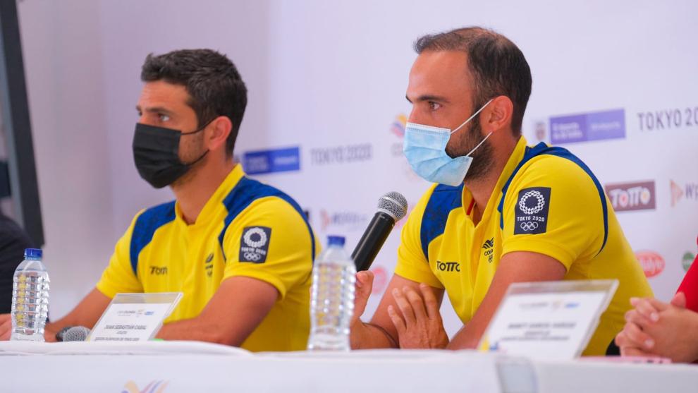 Robert Farah y Juan Sebastián Cabal, en rueda de prensa.