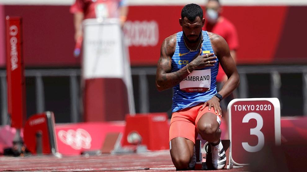 Anthony Zambrano se clasifica a la semifinal de los 400 metros en...