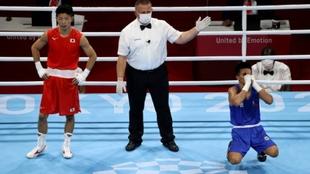 Momento en que los jueces dan como ganador al filipino Palaam.