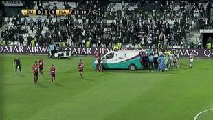 Olimpia vs Flamengo: ambulancia en Copa Libertadores