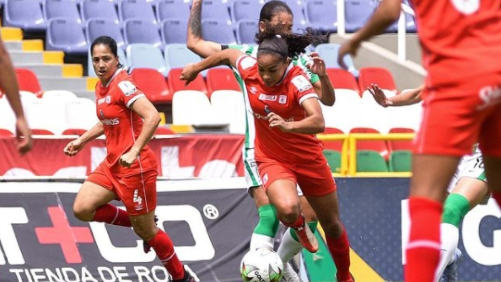 América de Cali femenino contra el Atlético Nacional femenino
