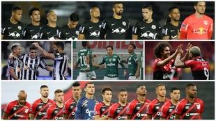 Bragantino, Atletico Mineiro, Palmeiras, Flamengo y Athletico.
