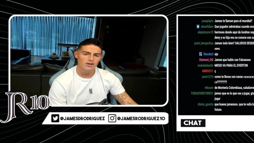 El Twitch 'distancia' a James Rodríguez de la afición y ¿del Everton? | MARCA Claro Colombia