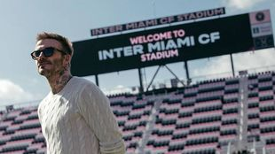 David Beckham, en el estadio del Inter Miami.