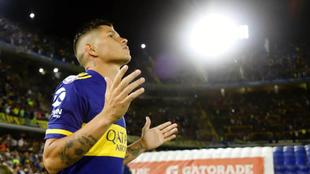 Jorman Campuzano, en un partido con Boca Juniors.