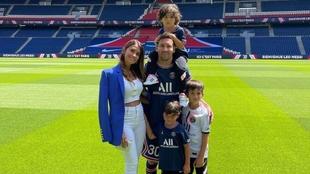 La familia Messi en Paris.