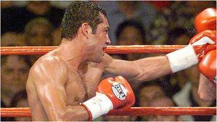 De la Hoya, durante un combate