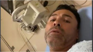 De la Hoya, en el hospital
