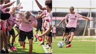 Romeo Beckhamentrenando con el Inter de Miami