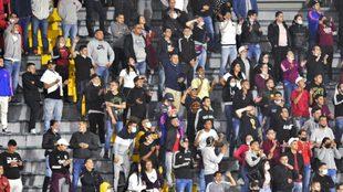Hinchas de Atlético Nacional en El Campín