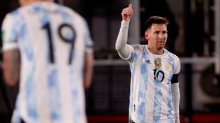 Messi, en el partido contra Bolivia.