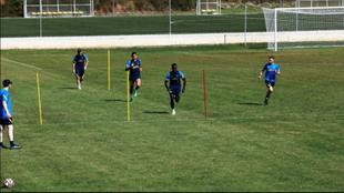 Davinson Sánchez, Cristian Romero y Giovani Lo Celso entrenan en...