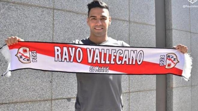Radamel Falcao García con el Rayo Vallecano.