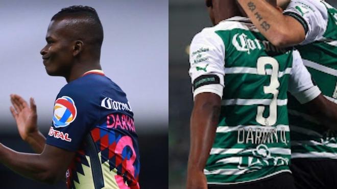 Darwin con el número 3 en el América y en el Santos Laguna.
