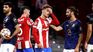 Atlético de Madrid y Porto empatan sin goles en la fecha 1 de la...