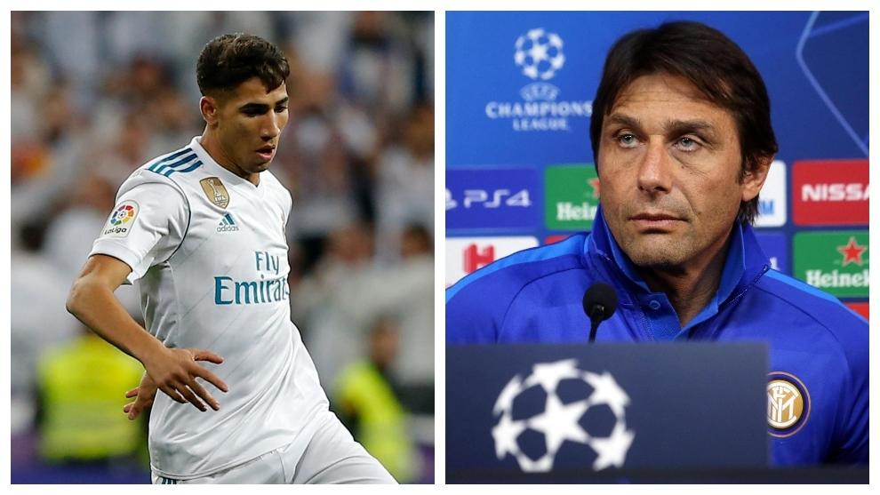 """Conte sobre Achraf Hakimi: """"Su sueño es volver al Real Madrid"""""""