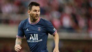 Messi, durante un partido con el PSG