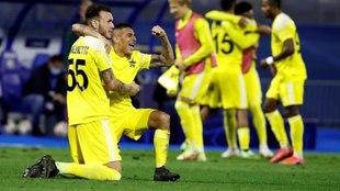 Frank Castañeda celebrando un gol con el Sheriff Tiraspol