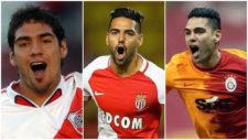 Falcao García, celebrando goles con River Plate, Mónaco y...
