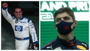 Juan Pablo Montoya y Max Verstappen