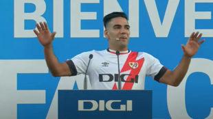 Radamel Falcao, en su presentación