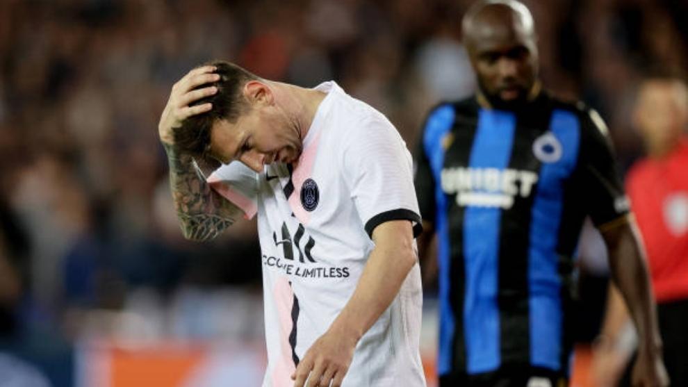 Leo Messi en su estreno en Champions con el PSG
