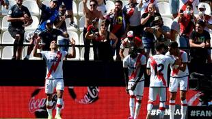 Así celebró Radamel Falcao su gol con el Rayo Vallecano ante el...