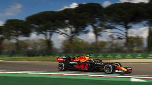 El Red Bull de Checo Pérez, en una prueba del Mundial de Fórmula 1.